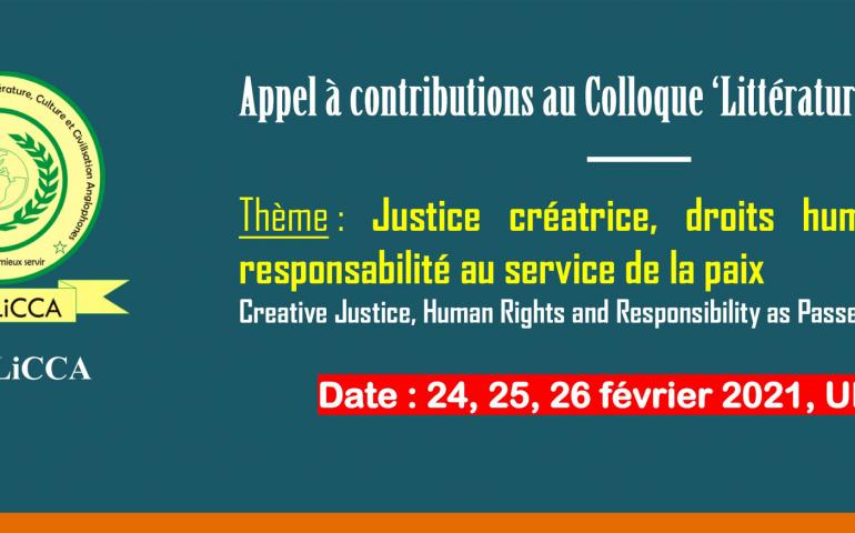 "Appel à contributions à la 2ème édition du Colloque International de Lomé ""Littérature et Paix"""